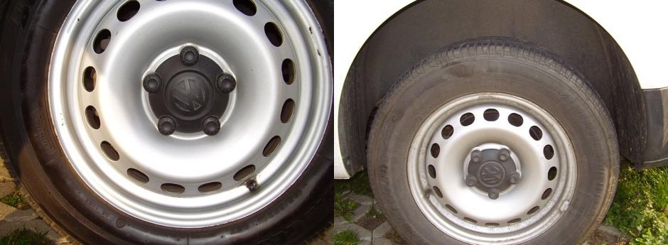 Čištění a ošetření pneu a disků